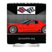 C5 Corvette Zo6 'profile' I Shower Curtain