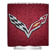 C7 Badge Red Shower Curtain