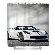 C7 Z06 Corvette Shower Curtain