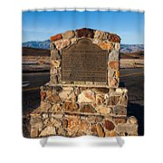 Ca-773 Old Harmony Borax Works Shower Curtain