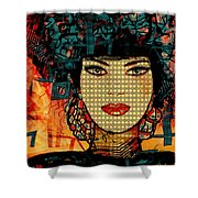 Cabaret Girl Shower Curtain