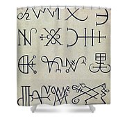 Cabbalistic Signs And Sigils, 18th Shower Curtain