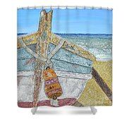 Cabbing Skiff  Shower Curtain
