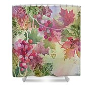 Cabernet Shower Curtain by Deborah Ronglien