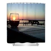 Cabernet Sunset Shower Curtain
