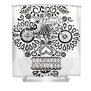 Cabeza De Vaca-cicleta Shower Curtain