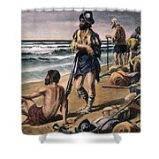 Cabeza De Vaca Expedition Shower Curtain