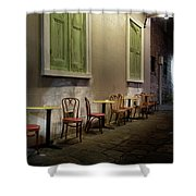 Cabildo Alley Tables Shower Curtain