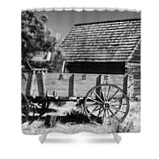 Cabin And Wagon Shower Curtain