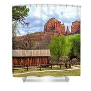 Cabin At Cathedral Rock Shower Curtain