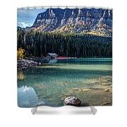 Cabin At Lake Louise Shower Curtain