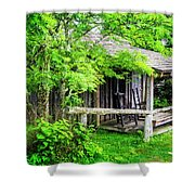 Cabin At The Top Mt Leconte Shower Curtain