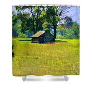 Cabin At Valley Forge Shower Curtain