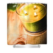 Cabin Candlelight Shower Curtain