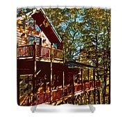 Cabin Cutout Shower Curtain