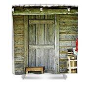 Cabin Door Shower Curtain