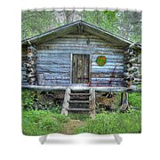 Cabin In Lapland Forest Shower Curtain