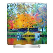 Cabin In The Park II Shower Curtain