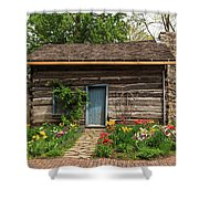Cabin In The Tulip Patch Shower Curtain