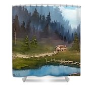 Cabin Retreat Shower Curtain