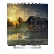 Cabin Sunrise Shower Curtain