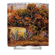 Cabin With Aloe Plants Shower Curtain