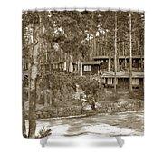Cabins At Carmel Highlands Inn Circa 1930 Shower Curtain