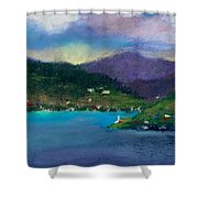 Cabins On The Lake Shower Curtain