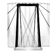 Cable Bridge Abstract Shower Curtain