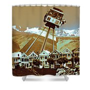 Cable Car Fly - San Francisco Collage Shower Curtain