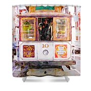 Cable Car No. 10 Shower Curtain