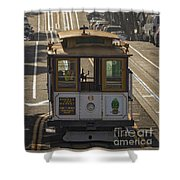 Cable Car Number 6 Shower Curtain