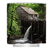 Cable Grist Mill Shower Curtain by Andrea Silies