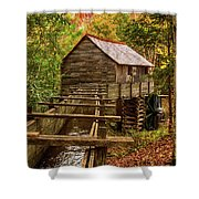 Cable Mill Cades Cove Smoky Mountains Tennessee In Autumn Shower Curtain