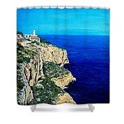 Cabo La Nao Lighthouse Javea Spain Shower Curtain