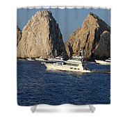 Cabo San Lucas - Sport Fishing Shower Curtain