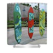 Cabo Surfboard Sculpture 1 Shower Curtain