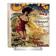 Cabourg - Paris - Grand Hotel - Vintage Restaurant Advertising Poster Shower Curtain