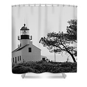 Cabrillo Lighthouse 3 Shower Curtain