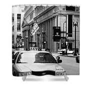 Cabs In The City Shower Curtain