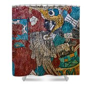 Cacaxtla Warrior II Shower Curtain