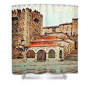 Caceres Spain Artistic Shower Curtain