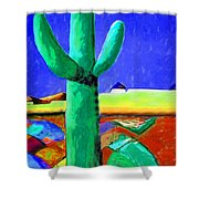 Cactus By Nixo Shower Curtain