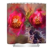 Cactus Flower 07-003 Shower Curtain