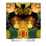Cactus Flower 08-005 Abstract Shower Curtain