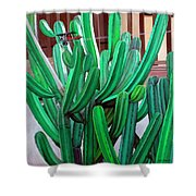 Cactus Fly By Shower Curtain