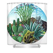Cactus Garden 2 Shower Curtain