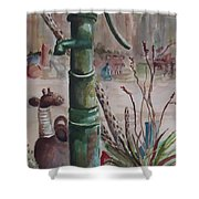 Cactus Joes' Pump Shower Curtain