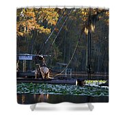 Caddo Pile Driving - Rig 2 Shower Curtain