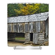 Cades Cove Barn Shower Curtain